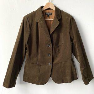Talbots corduroy blazer jacket 12p
